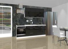 Kuchyňský blok Emilia oživí interiér vaší kuchyně a ohromí vás svým luxusním vzhledem díky černému dekoru ve vysokém lesku. Je vyroben z kvalitního LTD...