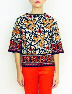 tydepool:  Floral Knit Sweater