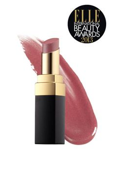 """ELLE INTERNATIONAL BEAUTY AWARDS 2013: FAVORITE LIPSTICK - """"Luminous and hydrating"""" Chanel Rouge Coco Shine in Boy is """"somewhere between a lipstick and a gloss""""—""""very sophisticated and very natural at the same time.""""    """"Somewhere between a lipstick and a gloss, it's very sophisticated yet natural at the same time. It doesn't really give off a bold color, more of a gorgeous sheen."""""""