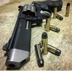 Smith and Wesson 627 V-Comp 8 shot .357 magnum performance center revolver.
