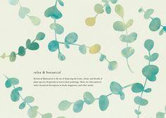 ユーカリ Love Illustration, Botanical Illustration, Paper Design, Book Design, Leaflet Design, Print Design, Graphic Design, Watercolor Flowers, Painting & Drawing