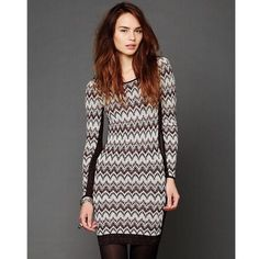 "Free people cozy cabin sweater dress Solid ribbed knit side panels for flattering fit. Light shimmer with zig zag design. Approx Shoulder to hem measurement 35.5"" Free People Dresses Mini"