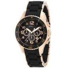 Marc Jacobs Women's 'Pelly' Black Dial Chronograph Watch | Overstock.com Shopping - The Best Deals on Women's Marc Jacobs Watches