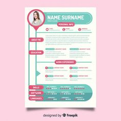Modèle de cv moderne Vecteur gratuit If you like this cv template. Check others on my CV template board :) Thanks for sharing! Creative Cv Template, Modern Resume Template, Resume Template Free, Beau Cv, Web Developer Resume, Microsoft Word, Administrative Assistant Resume, Free Resume Examples, Resume Cv