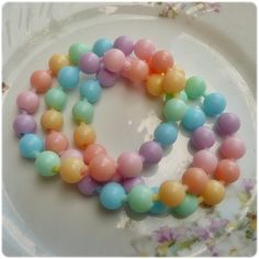 3 Rainbow Sherbet Pastel Pop beads!