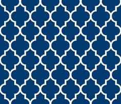 White on Navy fabric by sparrowsong on Spoonflower - custom fabric **This fabric is super cute but will come at a higher price point as it's custom made fabric.