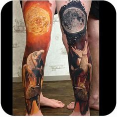Osiris and Anubis Tattoo