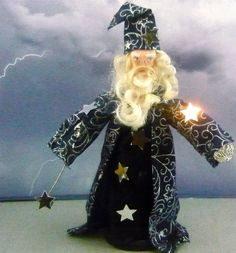 Merlin the Magician Doll Miniature From King by UneekDollDesigns, $46.00