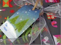Recycle Holiday Cards into Gift Tags