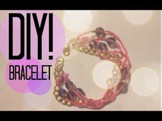 Hey Beauties,    Here is an easy and cute DIY bracelet! This will be great for stacking. I hope you enjoyed this tutorial! share your recreations with me on twitter and Instagram. x    Items used:  - 80 cm thread  - 10 glass beads  - 25cm gold chain  - 4 jump rings  - 20 gold crimp beads  - Lobster clasp  - Flat nosed pliers  - Crimping pliers  - Scissors    I...