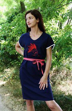 maramanufaktura / dámske šaty /kolekcia SPANILÁ Short Sleeve Dresses, Dresses With Sleeves, Shirt Dress, T Shirt, Fashion, Supreme T Shirt, Moda, Shirtdress, Tee Shirt