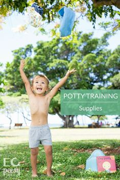 Early Potty Training Supplies for Non-Coercive Potty Training or Montessori Toilet Learning Toilet Training Age, Potty Training Reward Chart, Potty Training Rewards, Potty Training Videos, Toddler Potty Training, Montessori, Learning, Toddlers, Age 3