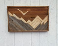 Reclaimed Wood Wall Art-Decor-Chevron Design-Gift by PastReclaimed
