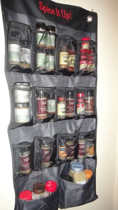 Thirty one hang up space saver as a spice rack in your pantry!