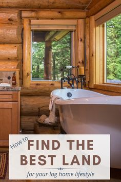 Living in a charming log home is a dream for many people, but sometimes finding the right land can be the most difficult part. We offer expert advise and insider secrets on how to find the best land for your dream log home! #loghomemanufacturer #findingland #cariboucreekloghomes