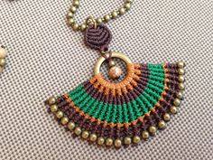 INDIA . Macrame Pendant Necklace