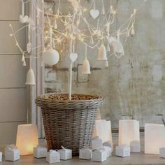 Christmas look with luminary bags: http://www.paperlanternstore.com/luminary-bags.html