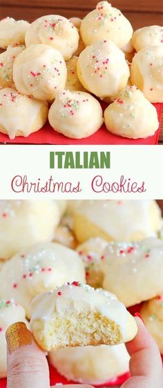 34 Fantastically Festive Christmas Dessert Ideas - Captain Decor These Italian Christmas cookies have become a favorite Christmas recipe at our house. Try them and see for yourself how delicious they are! Italian Christmas Cookies, Christmas Sweets, Christmas Cooking, Italian Cookies, Christmas Christmas, Christmas Foods, Christmas Dessert Recipes, Italian Ricotta Cookies, Traditional Christmas Cookies