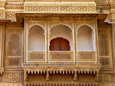 Picture of Sculpted pavilion-style balcony of the Rajmahal palace - Jaisalmer, Rajasthan, India stock photo, images and stock photography. Indian Architecture, Historical Architecture, Jaisalmer, Rajasthan India, Old Models, Stone Work, Home Renovation, Pavilion, Balcony