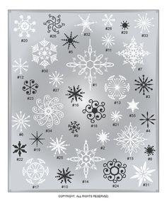 DIGITAL DOWNLOAD ... in AI, EPS, SVG, & GSD formats @ My Vinyl Designer #snowflakeclipart