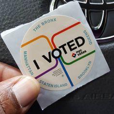 I voted.  #nyc
