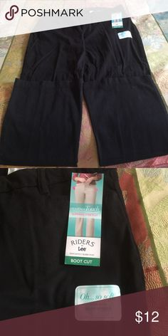 NWT Riders pants 16 medium, stretch black pants by Riders. Boot cut and brand new with tags. Riders Pants Boot Cut & Flare