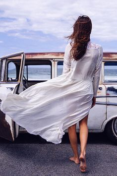 My style of freedom! Summer Of Love, Look Fashion, Spring Summer Fashion, Editorial Fashion, Style Me, Fashion Photography, White Dress, Street Style, Style Inspiration
