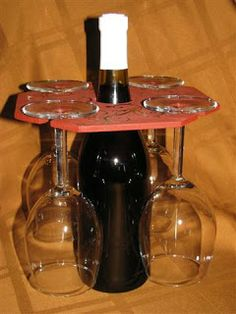 Wine Gift Set - stamped and heat embossed