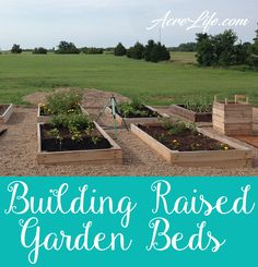 Building Raised Beds - Easy Step by Step Guide - Acre Life - I love how easy the steps are for building a raised garden bed. Even I can build this! Diy Building, Vegetable Garden, Landscaping Tips, Wildflower Garden, Landscape Projects, Backyard Landscaping, Lawn Care, Diy Garden, Building Raised Beds