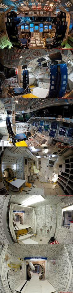 Inside the Flight Deck of the Space Shuttle Endeavour