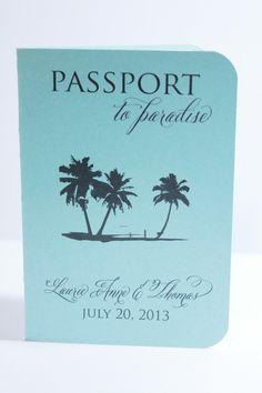 Destination wedding invitation passport save the date | DivaGoneDomestic.com