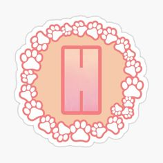 LETTER H PAW Stickers | Redbubble