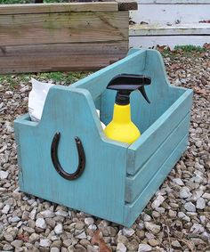 Tool Box,large,horse,grooming Box,wooden,brushes,supplies,caddy,barn,tote