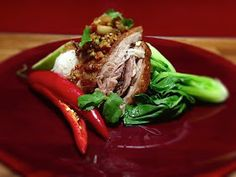 Spicy slow cooked pork belly with peanut sambal