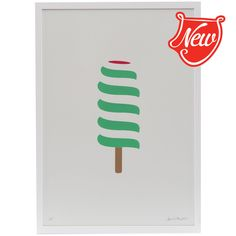 Pedlars - Ice Lollies - Twister by Dan Cottrell Love Ice Cream, Swatch, Dan, Cool Designs, Letters, Kids Rooms, Prints, British