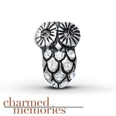 Charmed Memories Owl Charm Sterling Silver