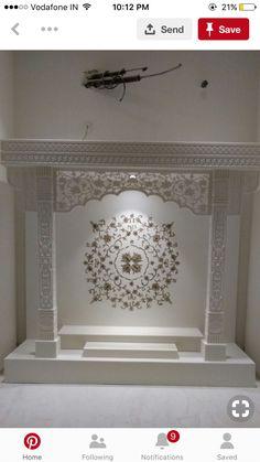 House Balcony Design, House Design, Temple Design For Home, Mandir Design, Pooja Room Door Design, Puja Room, Furniture Design, Kitchen Furniture, Room Doors
