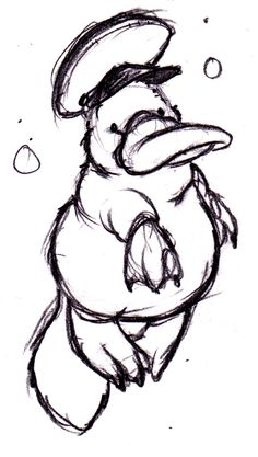Well here is a platypus. It's wearing a hat because I think hats are neat. The hat has a bill, kind of like the platypus. Animal Sketches, Animal Drawings, Cartoon Drawings, Art Drawings, Baby Platypus, Storyboard, Australian Animals, Drawing Reference Poses, Spirit Animal