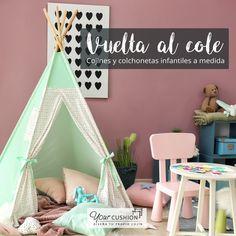 Pon todo a punto para el nuevo curso y haz que las habitaciones de tus hijos sean espacios cómodos y funcionales con los cojines a medida Your Cushion✏️📒👽  En nuestra web podréis diseñar cojines y colchonetas a medida y elegir entre nuestra selección de telas infantiles para crear ese espacio perfecto para los más pequeños. 🤩🥳¿Te animas a diseñarlos con ellos?  #cojinesamedida #cojinesinfantiles #vueltaalcole #decoinfantil #diy #habitacioninfantil #ideadeco #septiembre #tipisindios