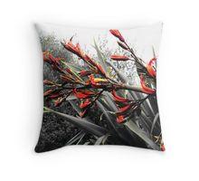"""Waiheke Island"" - Flax Flowers Throw Pillow"