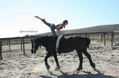 Equestrian vaulting ('horse yoga') from @OneTribeApparel blog