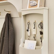 A key holder and letter rack is a good idea for keeping bits and bobs safe and out of reach of both toddlers and thieves.  Find all our hallway furniture and storage ideas at http://www.thedormyhouse.com/catalogue/hallway #thedormyhouse