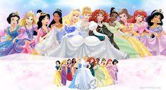 4 Sizes- Disney Princess Canvas Print Home Wall Decor Art Giclee Girls Nursery Disney Girls, Disney Love, Disney Stuff, Disney Cartoons, Disney Pixar, Walt Disney Images, Princess Canvas, Official Disney Princesses, Happy 4th Birthday