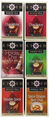 Stash Tea 6-Flavor Assortment Tea, Chai Lovers, 6 Count - http://teacoffeestore.com/stash-tea-6-flavor-assortment-tea-chai-lovers-6-count/