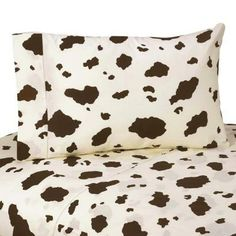 Love these Cowgirl Cow printed sheets