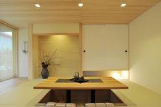 和室 Modern Japanese Interior, Japanese Home Decor, Japanese Modern, Japanese House, Japan Room, Irori, Zen Interiors, Tatami Room, Meditation Corner