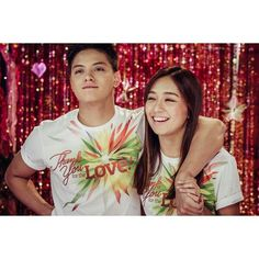 """This is the handsome Daniel Padilla and the pretty Kathryn Bernardo smiling for the camera during the taping and recording of the ABS-CBN 2015 Christmas Station ID, """"Thank You for the Love!"""" Indeed, KathNiel is my favourite Kapamilya love team. #KathrynBernardo #TeenQueen #DanielPadilla #KathNiel #KathNielBernaDilla #ABSCBNChristmasStationID #ThankYoufortheLove"""
