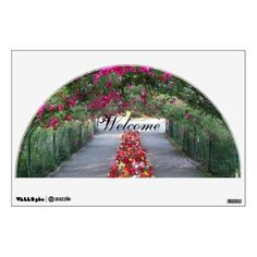 Garden Walk Welcome Wall Decal #flowers #floral #gardens #archway #walldecor #walldecorations