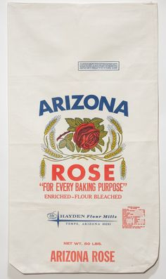 Vintage Flour Sack Feed Sack Bags, Rose Brand, Cool Packaging, Old Ads, Vintage Labels, Cotton Bag, Christmas Projects, Vintage Advertisements, Flour Sacks