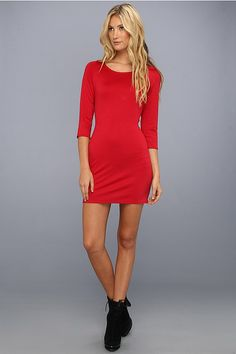 Celebrate the holidays in style with a red cocktail dress, available @Zappos.
